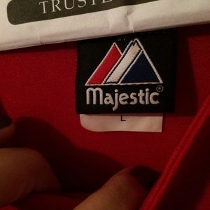 Majestic Tops - Texas RANGERS Red Jersey Embroidered/Patched!